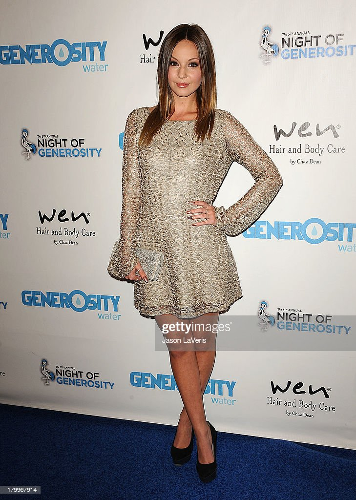Actress Samantha Droke attends Generosity Water's 5th annual Night of Generosity benefit at Beverly Hills Hotel on September 6, 2013 in Beverly Hills, California.
