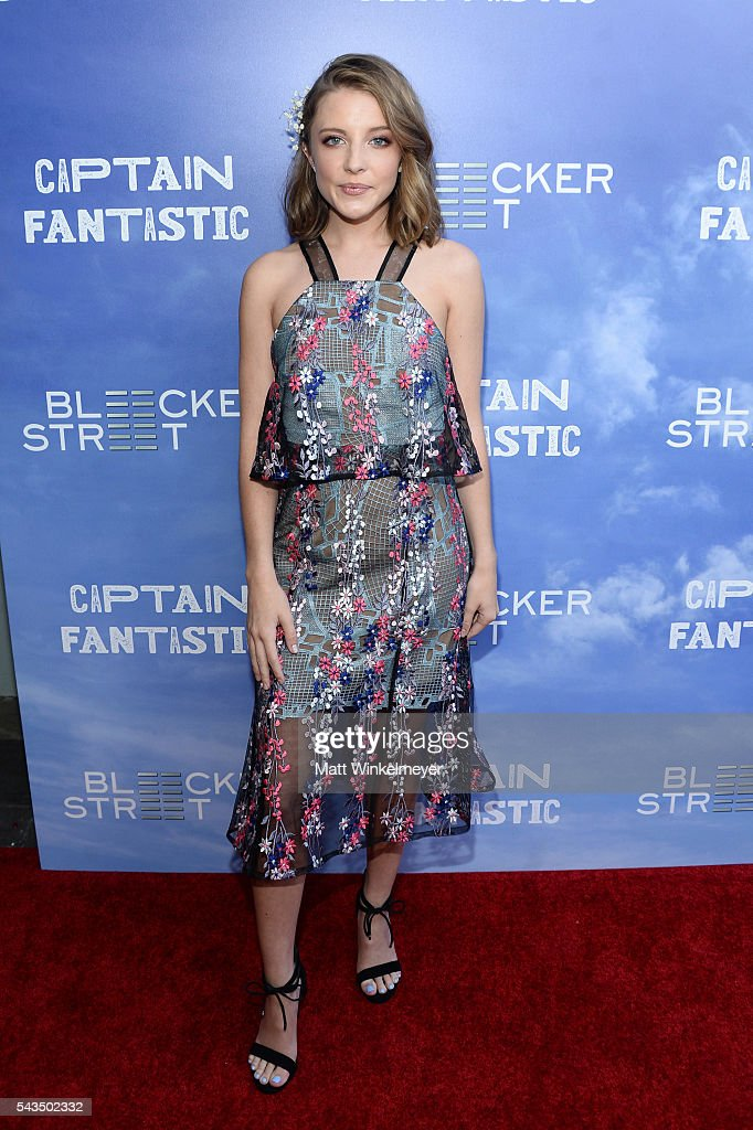 Actress Samantha Isler attends the premiere of Bleecker Street Media's 'Captain Fantastic' at Harmony Gold on June 28, 2016 in Los Angeles, California.
