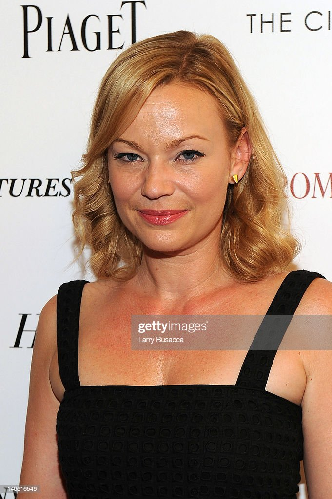 Actress Samantha Mathis attends the Cinema Society with The Hollywood Reporter & Piaget and Disaronno special screening of 'To Rome With Love' at the Paris Theatre on June 20, 2012 in New York City.