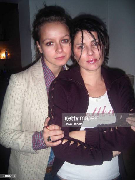 Actress Samantha Morton and Sadie Frost attend Samantha Morton's Grand Classic film festival her choice was 'Ladybird Ladybird' a Ken Loach movie on...