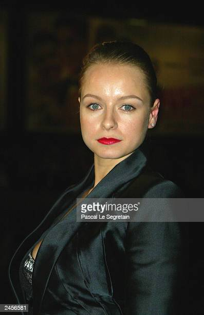 Actress Samantha Morton arrives to the screening of Michael Winterbottom's film 'Code 46' at the 60th Venice Film Festival on September 2 2003 in...