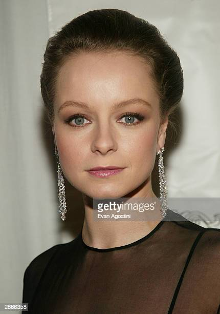 Actress Samantha Morton attends the National Board Of Review Of Motion Pictures 2003 Annual Awards Gala at Tavern on the Green January 13 2004 in New...