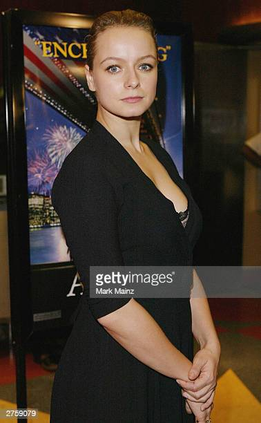Actress Samantha Morton attends the premiere of 'In America' held on November 24 2003 at the Beekman Theatre in New York City