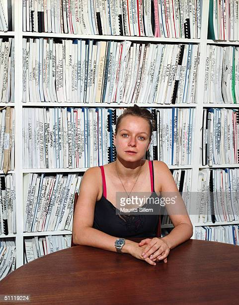 Actress Samantha Morton poses at a studio session on August 5 2003 at the Artists Independent Network in West London