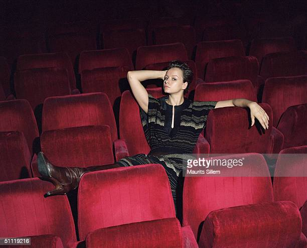 Actress Samantha Morton poses at a studio session on July 16 2003 at Screen on the Green in London