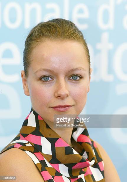 Actress Samantha Morton poses during a photo call at the 60th Venice Film Festival on September 2 2003 in Venice Italy Robbins and Morton is in...
