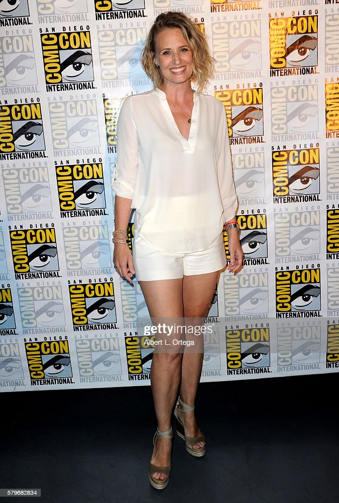 Actress Samantha Smith attends the 'Supernatural' Special Video Presentation And QA during ComicCon International 2016 at San Diego Convention Center...