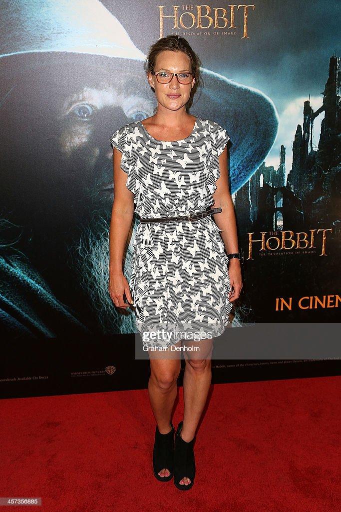 Actress Samantha Tolj arrives at the premiere of 'The Hobbit: Demolition Of Smaug' at Village Cinemas Rivoli on December 17, 2013 in Melbourne, Australia.