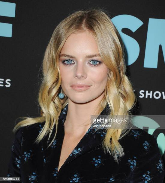 Actress Samara Weaving arrives at the Los Angeles Premiere 'SMILF' at Harmony Gold Theater on October 9 2017 in Los Angeles California