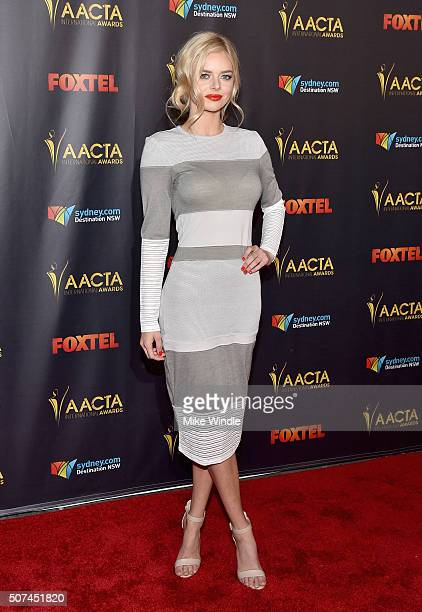 Actress Samara Weaving attends the 5th AACTA International Awards at Avalon Hollywood on January 29 2016 in Los Angeles United States