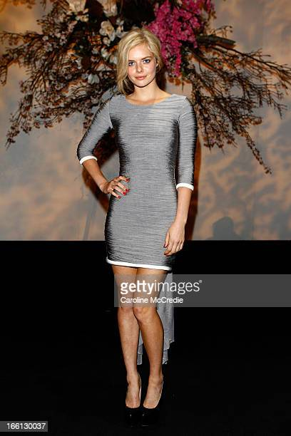 Actress Samara Weaving attends the Aje show during MercedesBenz Fashion Week Australia Spring/Summer 2013/14 at Carriageworks on April 9 2013 in...