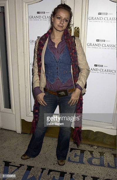 Actress Samatha Morton attends Samantha Morton's Grand Classic film festival her choice was 'Ladybird Ladybird' a Ken Loach movie on April 10 2003 in...