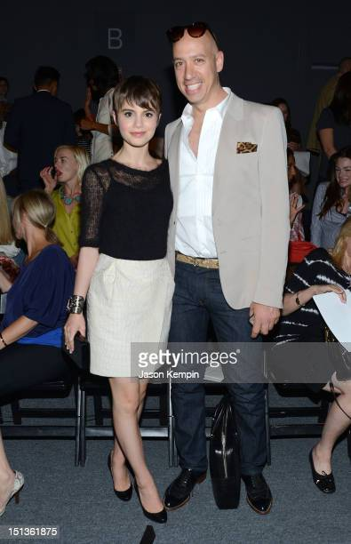Actress Sami Gayle and Robert Verdi attend the Chadwick Bell Spring 2013 fashion show during MercedesBenz Fashion Week at The Studio at Lincoln...