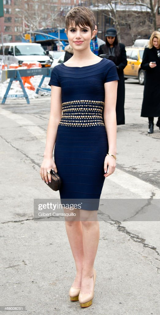Actress Sami Gayle attends Fall 2014 Mercedes Benz Fashion Week on February 8 2014 in New York City