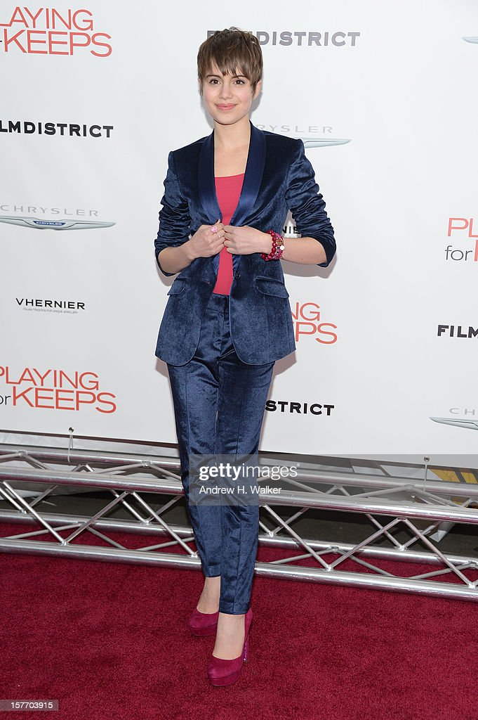 Actress Sami Gayle attends Film District And Chrysler With The Cinema Society Premiere Of 'Playing For Keeps' at AMC Lincoln Square Theater on December 5, 2012 in New York City.