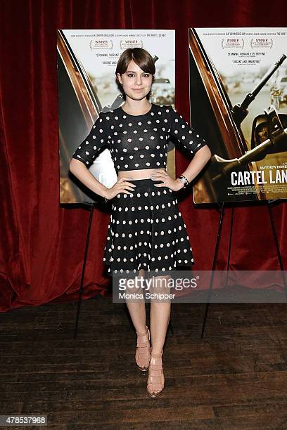 Actress Sami Gayle attends Seth Meyers With The Orchard The Cinema Society Host A Special Screening Of 'Cartel Land' at Tribeca Grand Screening Room...
