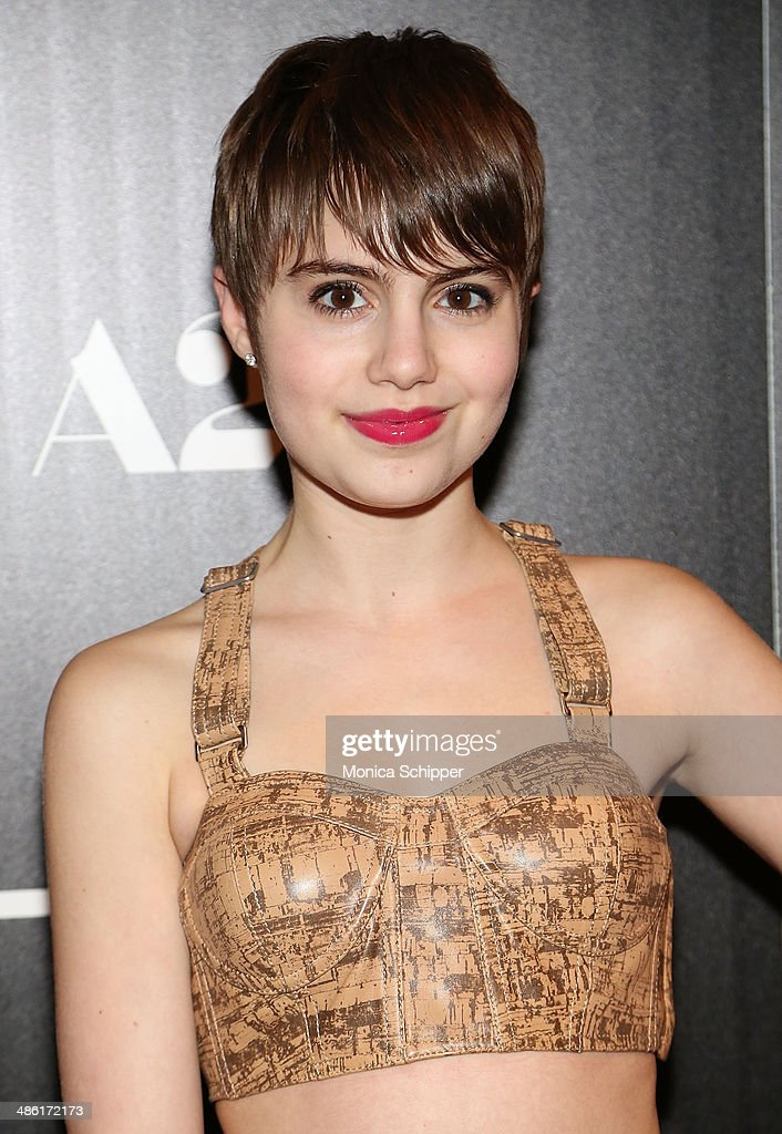 Actress <a gi-track='captionPersonalityLinkClicked' href=/galleries/search?phrase=Sami+Gayle&family=editorial&specificpeople=5053940 ng-click='$event.stopPropagation()'>Sami Gayle</a> attends the A24 and The Cinema Society premiere of 'Locke' at The Paley Center for Media on April 22, 2014 in New York City.