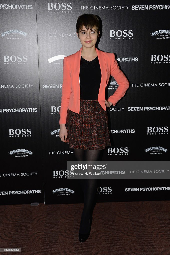 Actress Sami Gayle attends The Cinema Society And CBS Films Screening Of 'Seven Psychopaths' at Clearview Chelsea Cinemas on October 10, 2012 in New York City.