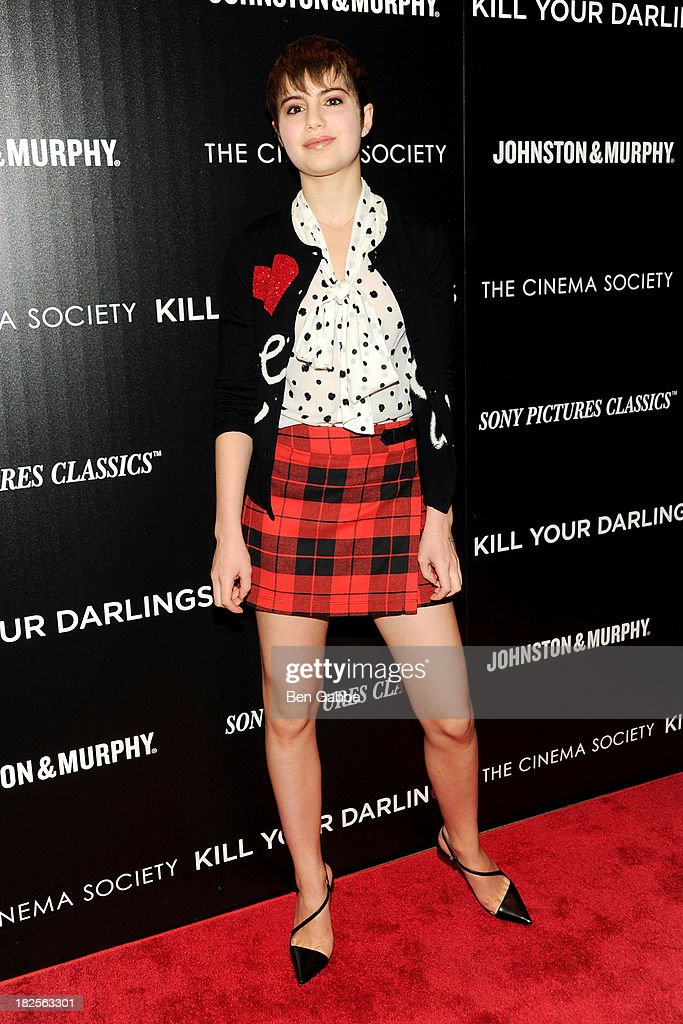 Actress Sami Gayle attends The Cinema Society and Johnston Murphy host a screening of Sony Pictures Classics' 'Kill Your Darlings' at the Paris...
