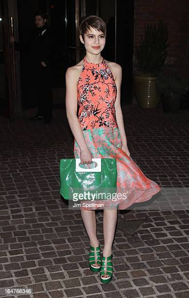 Actress Sami Gayle attends The Cinema Society JaegerLeCoultre screening of Open Road Films' 'The Host' at Tribeca Grand Hotel on March 27 2013 in New...