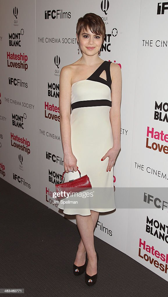 Actress Sami Gayle attends The Cinema Society Montblanc screening of IFC Films' 'Hateship Loveship' at Museum of Modern Art on April 8 2014 in New...