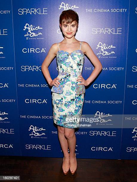 Actress Sami Gayle attends The Cinema Society with Circa and Alice Olivia of 'Sparkle' at the Tribeca Grand Hotel on August 14 2012 in New York City