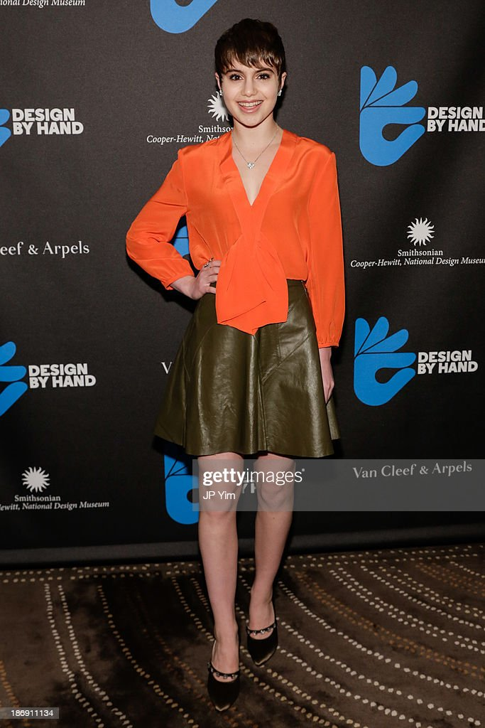 Actress Sami Gayle attends the 'Design By Hand Series' Cocktail Party cohosted by Van Cleef Arpels and CooperHewitt National Design Museum at Daniel...