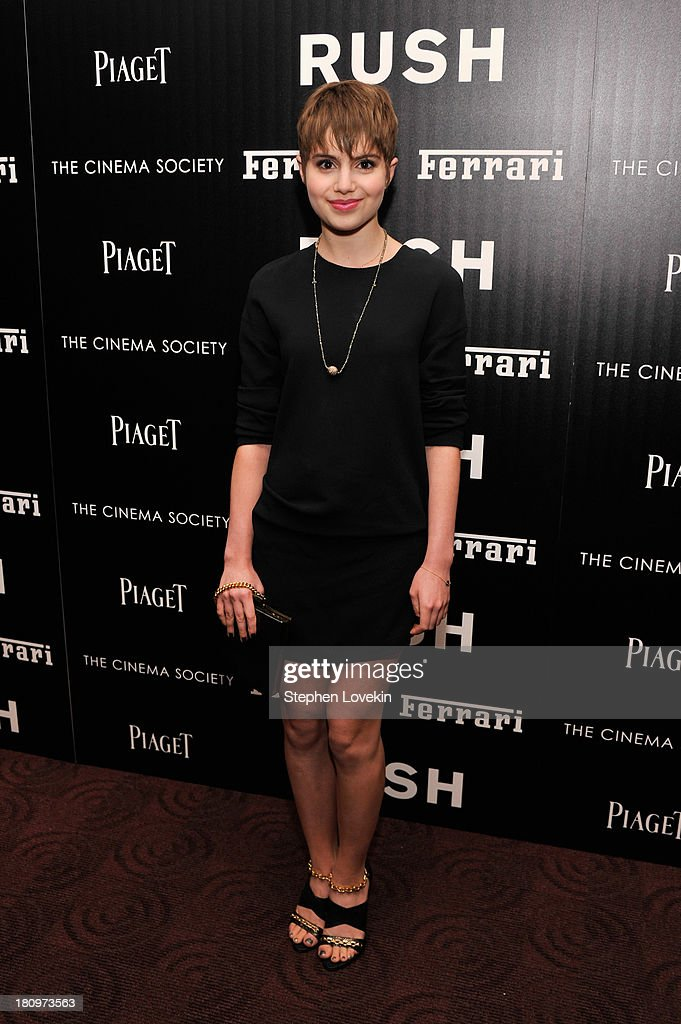 Actress <a gi-track='captionPersonalityLinkClicked' href=/galleries/search?phrase=Sami+Gayle&family=editorial&specificpeople=5053940 ng-click='$event.stopPropagation()'>Sami Gayle</a> attends the Ferrari and The Cinema Society Screening of 'Rush' at Chelsea Clearview Cinemas on September 18, 2013 in New York City.