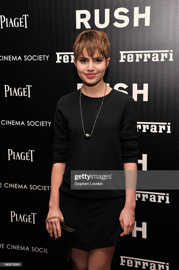 Actress Sami Gayle attends the Ferrari and The Cinema Society Screening of 'Rush' at Chelsea Clearview Cinemas on September 18 2013 in New York City
