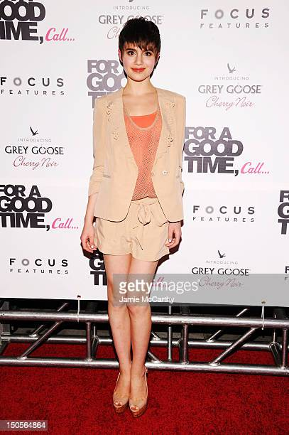 Actress Sami Gayle attends the 'For A Good Time Call' premiere at Regal Union Square on August 21 2012 in New York City