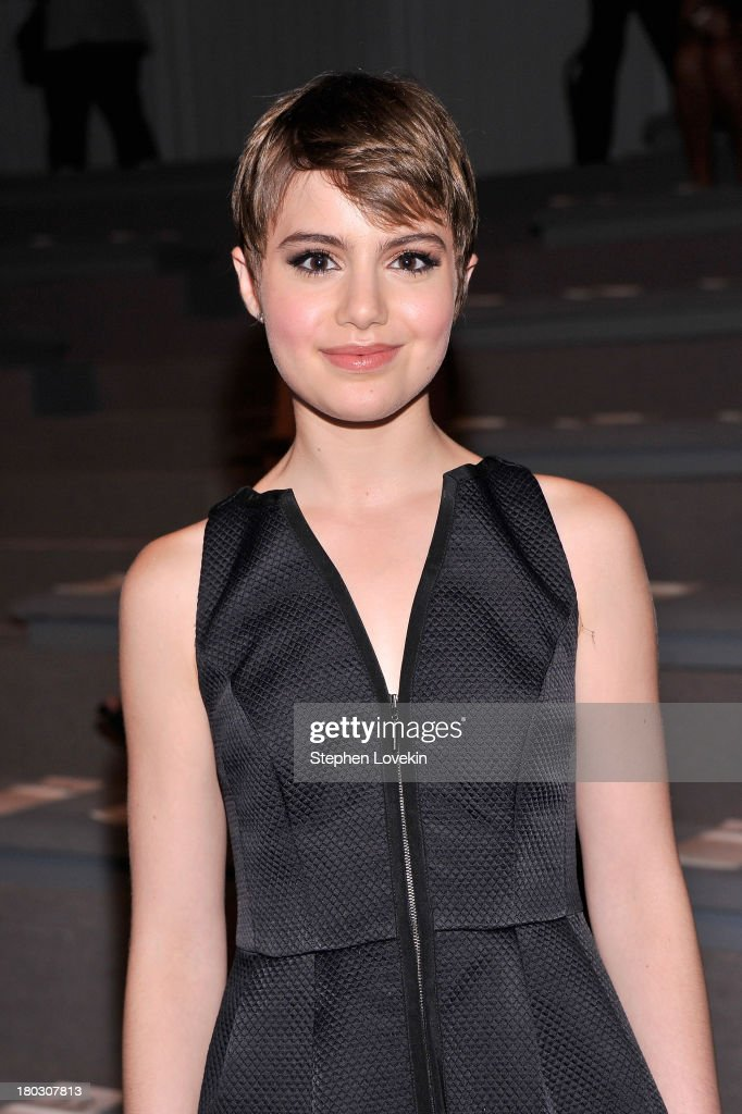 Actress <a gi-track='captionPersonalityLinkClicked' href=/galleries/search?phrase=Sami+Gayle&family=editorial&specificpeople=5053940 ng-click='$event.stopPropagation()'>Sami Gayle</a> attends the Nanette Lepore fashion show during Mercedes-Benz Fashion Week Spring 2014 at The Stage at Lincoln Center on September 11, 2013 in New York City.