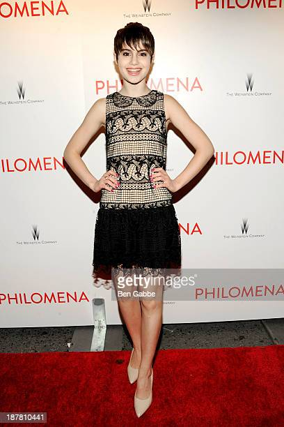 Actress Sami Gayle attends the premiere of 'Philomena' hosted by The Weinstein Company at the Paris Theater on November 12 2013 in New York City