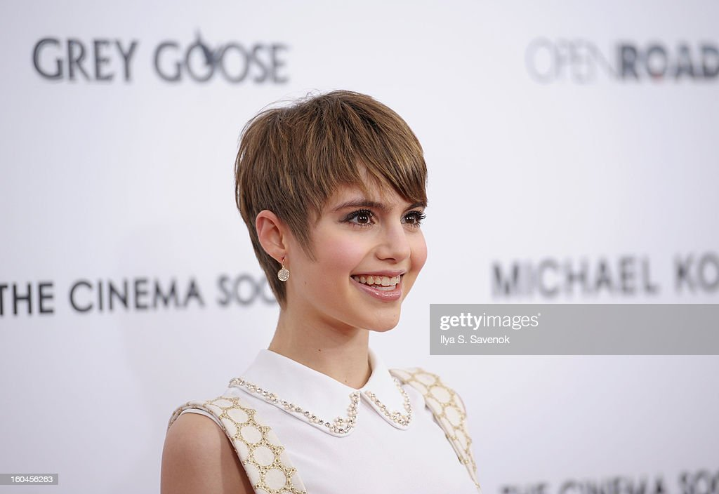 Actress Sami Gayle attends the premiere of 'Side Effects' hosted by Open Road with The Cinema Society and Michael Kors at AMC Lincoln Square Theater on January 31, 2013 in New York City.