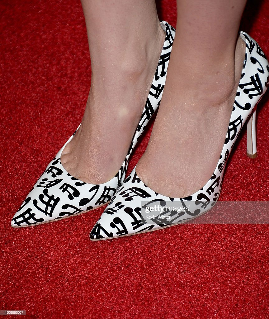 Actress Sami Gayle (shoe detail) attends the premiere of The Weinstein Company's 'Vampire Academy' at Regal Cinemas L.A. Live on February 4, 2014 in Los Angeles, California.