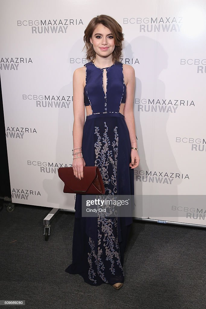 Actress <a gi-track='captionPersonalityLinkClicked' href=/galleries/search?phrase=Sami+Gayle&family=editorial&specificpeople=5053940 ng-click='$event.stopPropagation()'>Sami Gayle</a> poses backstage at the BCBGMAXAZRIA Fall 2016 fashion show during New York Fashion Week: The Shows at The Dock, Skylight at Moynihan Station on February 11, 2016 in New York City.