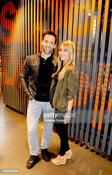 Actress Samia Ghadie and fiance Sylvain Longchambon wearSuperdry while attending the exclusive Superdry launch at Arndale Centre #SDArndale on July 8...