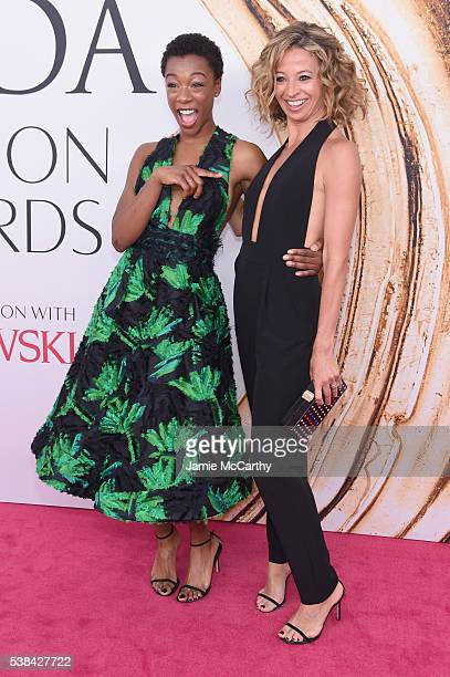 Actress Samira Wiley and Milly designer Michelle Smith attend the 2016 CFDA Fashion Awards at the Hammerstein Ballroom on June 6 2016 in New York City