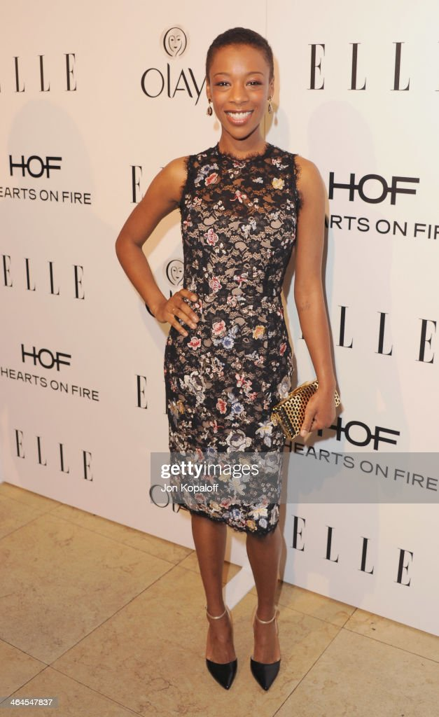 Actress <a gi-track='captionPersonalityLinkClicked' href=/galleries/search?phrase=Samira+Wiley&family=editorial&specificpeople=10947919 ng-click='$event.stopPropagation()'>Samira Wiley</a> arrives at the ELLE Women In Television Celebration at Sunset Tower on January 22, 2014 in West Hollywood, California.