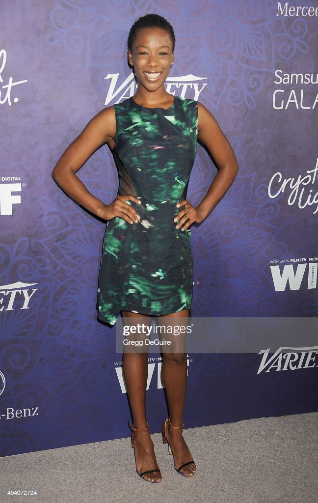 Actress <a gi-track='captionPersonalityLinkClicked' href=/galleries/search?phrase=Samira+Wiley&family=editorial&specificpeople=10947919 ng-click='$event.stopPropagation()'>Samira Wiley</a> arrives at the Variety And Women In Film Annual Pre-Emmy Celebration at Gracias Madre on August 23, 2014 in West Hollywood, California.