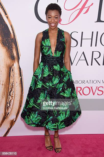 Actress Samira Wiley attends the 2016 CFDA Fashion Awards at the Hammerstein Ballroom on June 6 2016 in New York City