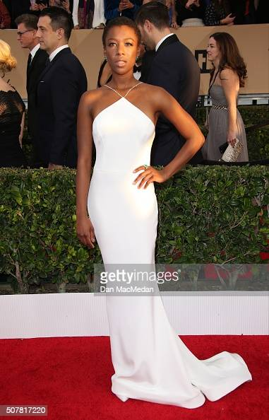 Actress Samira Wiley attends the 22nd Annual Screen Actors Guild Awards at The Shrine Auditorium on January 30 2016 in Los Angeles California