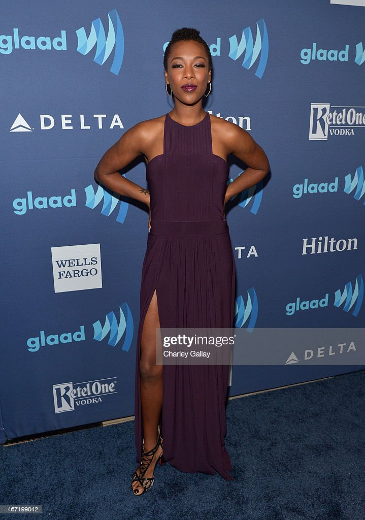 Actress Samira Wiley attends the 26th Annual GLAAD Media Awards at The Beverly Hilton Hotel on March 21, 2015 in Beverly Hills, California.