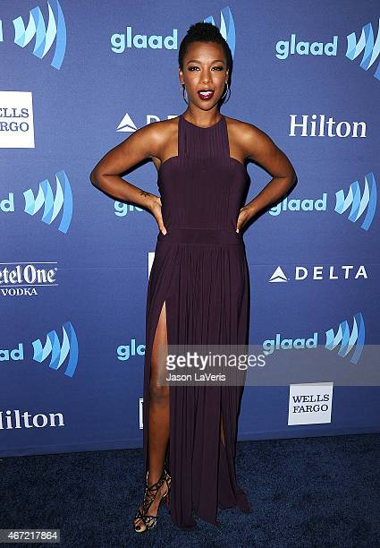 Actress Samira Wiley attends the 26th annual GLAAD Media Awards at The Beverly Hilton Hotel on March 21 2015 in Beverly Hills California