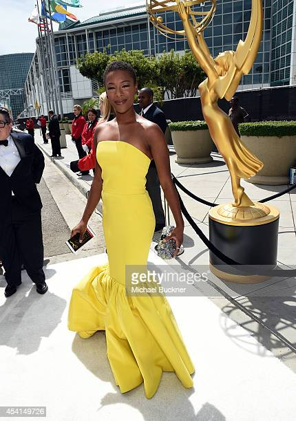 Actress Samira Wiley attends the 66th Annual Primetime Emmy Awards held at Nokia Theatre LA Live on August 25 2014 in Los Angeles California