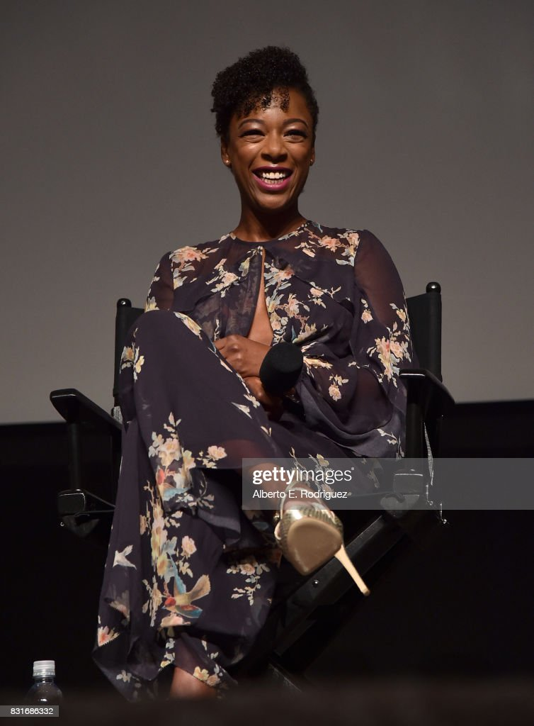Actress Samira Wiley attends the FYC event for Hulu's 'The Handmaid's Tale' at the DGA Theater on August 14, 2017 in Los Angeles, California.