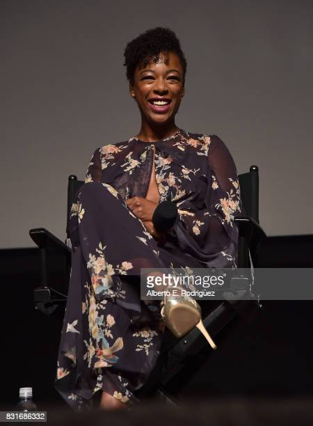 Actress Samira Wiley attends the FYC event for Hulu's 'The Handmaid's Tale' at the DGA Theater on August 14 2017 in Los Angeles California