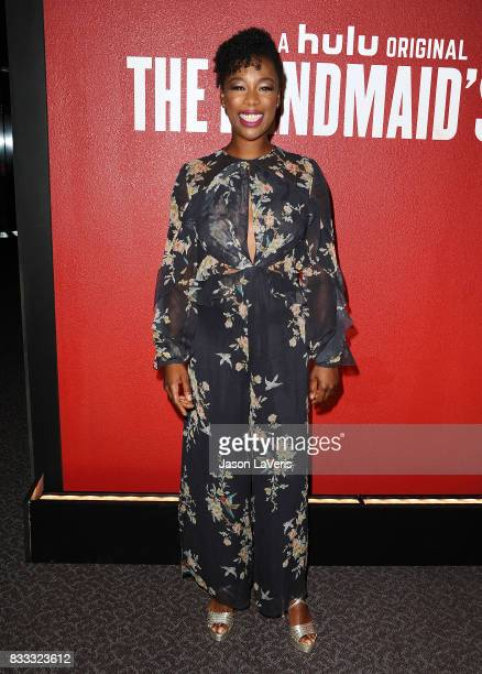 Actress Samira Wiley attends 'The Handmaid's Tale' FYC event at DGA Theater on August 14 2017 in Los Angeles California