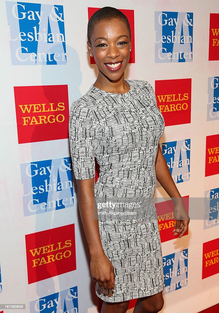 Actress <a gi-track='captionPersonalityLinkClicked' href=/galleries/search?phrase=Samira+Wiley&family=editorial&specificpeople=10947919 ng-click='$event.stopPropagation()'>Samira Wiley</a> attends the L.A. Gay & Lesbian Center's 42nd Anniversary Vanguard Awards Gala at Westin Bonaventure Hotel on November 9, 2013 in Los Angeles, California.