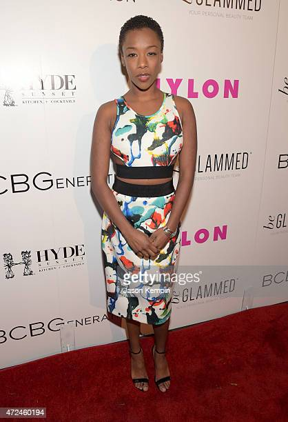Actress Samira Wiley attends the NYLON Young Hollywood Party presented by BCBGeneration at HYDE Sunset Kitchen Cocktails on May 7 2015 in West...