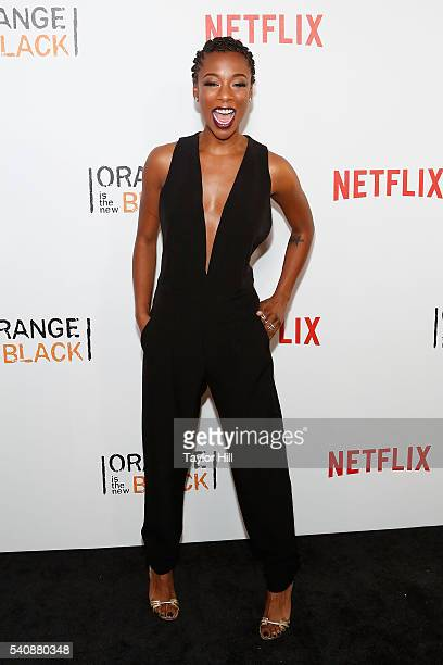 Actress Samira Wiley attends the premiere of 'Orange is the New Black' at SVA Theater on June 16 2016 in New York City